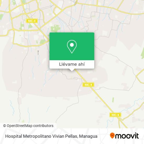 Mapa de Hospital Metropolitano Vivian Pellas