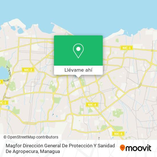 Mapa de Magfor Dirección General De Protección Y Sanidad De Agropecura