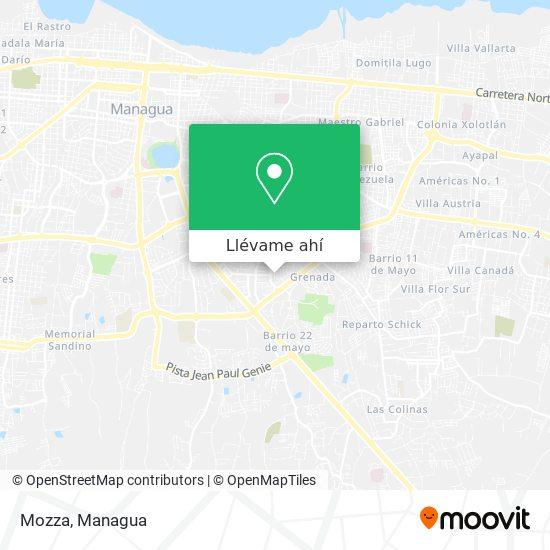 Mapa de Mozza