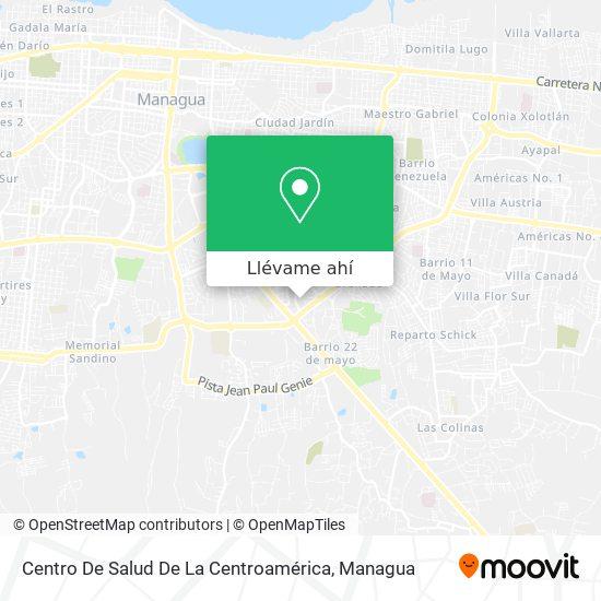Mapa de Centro De Salud De La Centroamerica