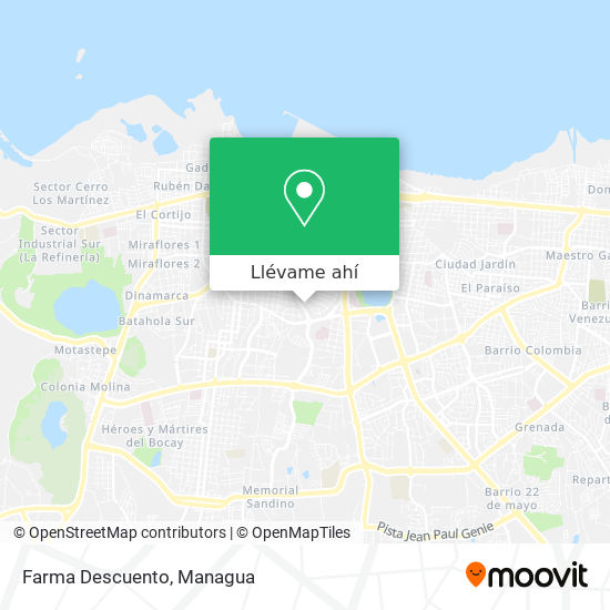 Mapa de Farma Descuento