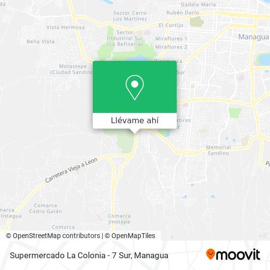 Mapa de Supermercado La Colónia