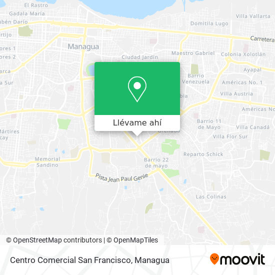Mapa de Centro Comercial San Francisco
