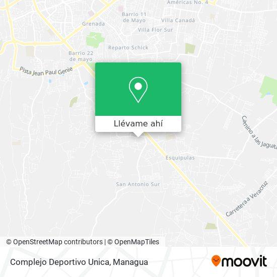 Mapa de Complejo Deportivo Unica