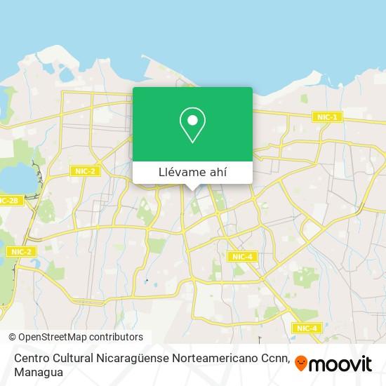 Mapa de Centro Cultural Nicaragüense Norteamericano Ccnn