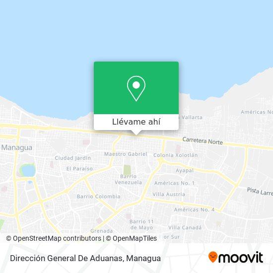 Mapa de Dirección General De Aduanas