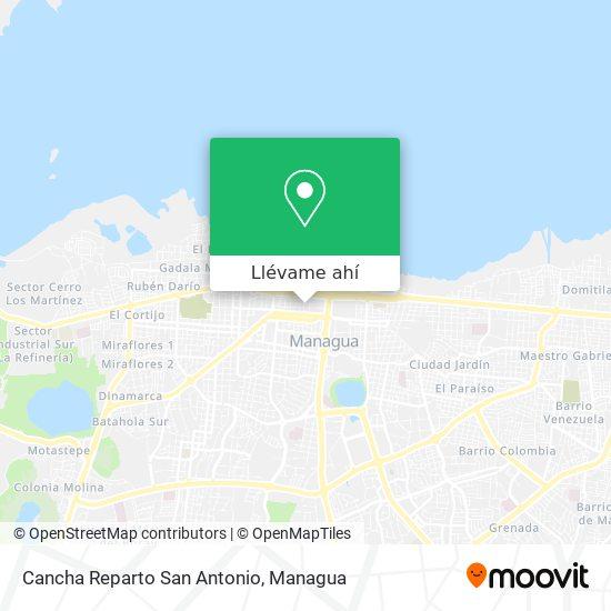 Mapa de Cancha Reparto San Antonio