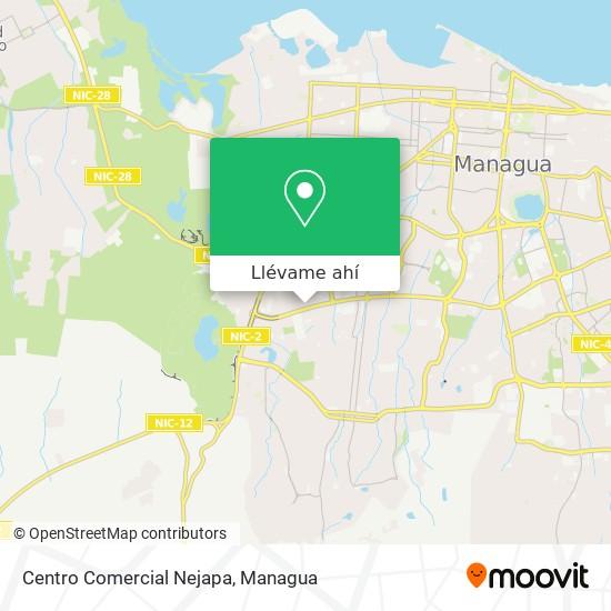 Mapa de Centro Comercial Nejapa