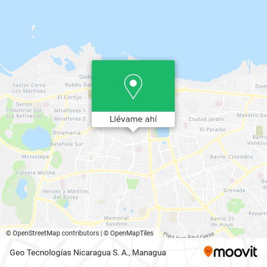 Mapa de Geo Tecnologías Nicaragua S. A.