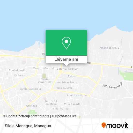 Mapa de Silais Managua