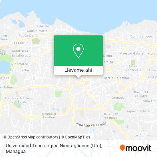 Mapa de Universidad Tecnológica Nicaragüense (Utn)
