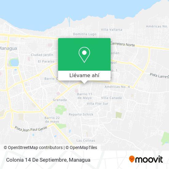 Mapa de Colonia 14 De Septiembre