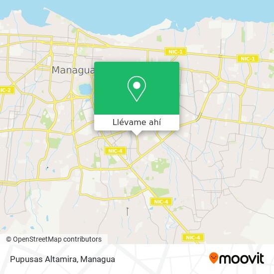 Mapa de Pupusas Altamira