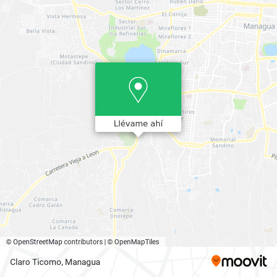 Mapa de Claro Ticomo
