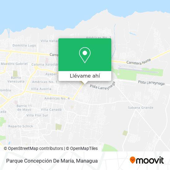 Mapa de Parque Concepción De María