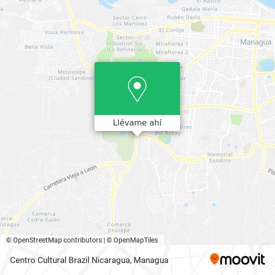 Mapa de Centro Cultural Brazil Nicaragua