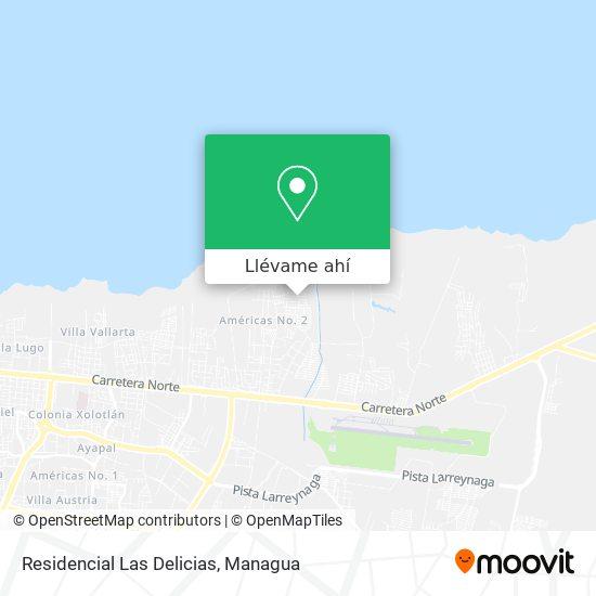 Mapa de Residencial Las Delicias