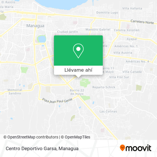 Mapa de Centro Deportivo Garsa
