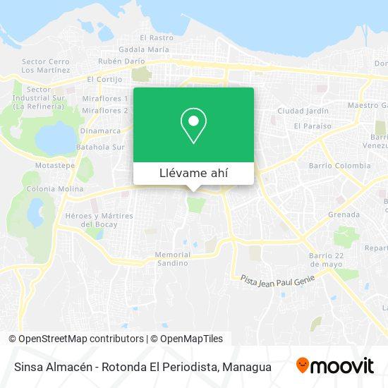 Mapa de Sinsa Rotonda El Periodista