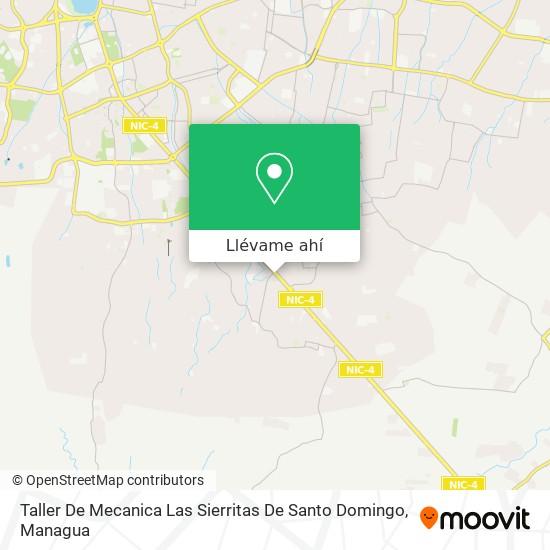 Mapa de Taller De Mecanica Las Sierritas De Santo Domingo