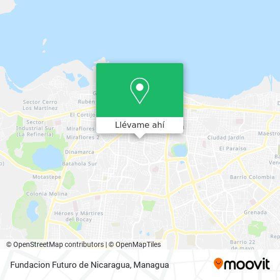 Mapa de Fundacion Futuro de Nicaragua
