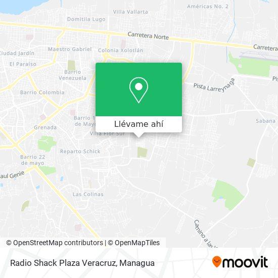Mapa de Radio Shack Plaza Veracruz