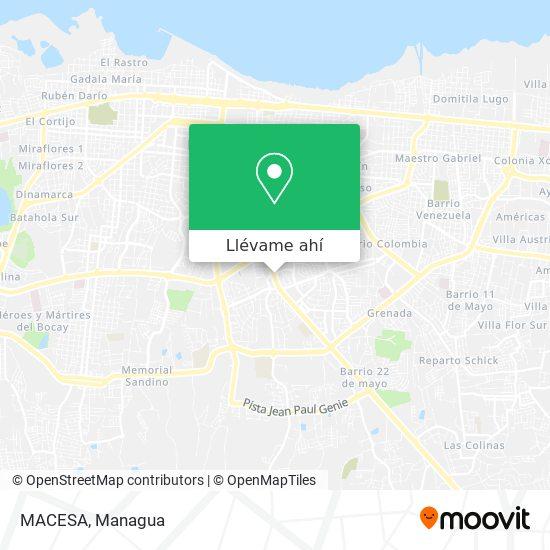 Mapa de MACESA