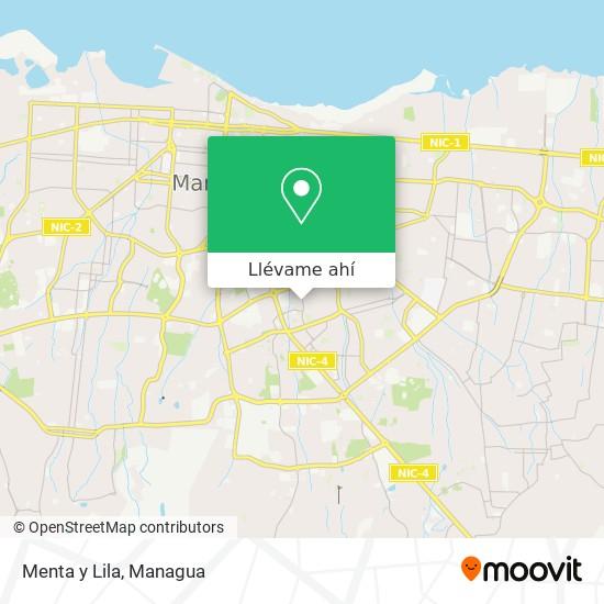 Mapa de Menta y Lila