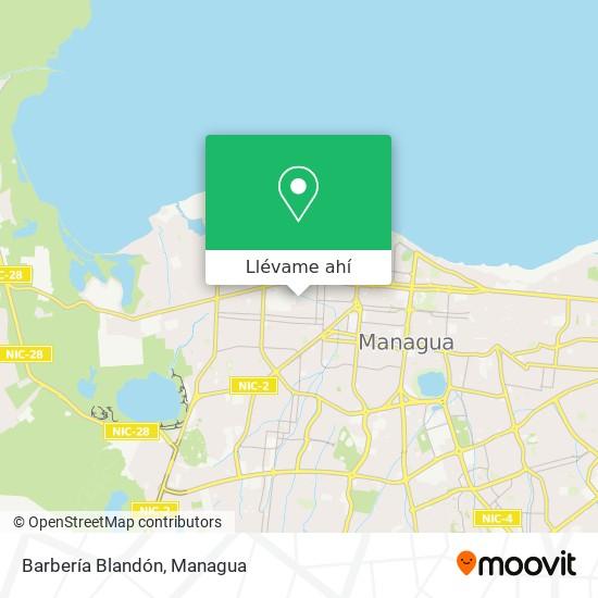 Mapa de Barbería Blandón