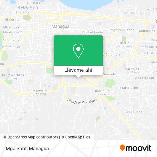 Mapa de Mga Spot