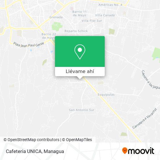 Mapa de Cafeteria UNICA