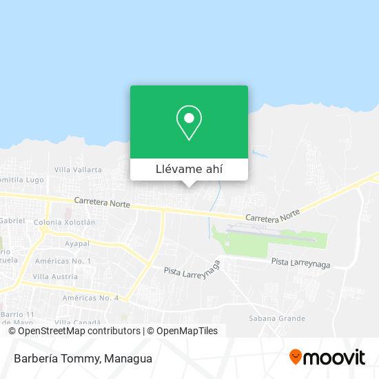 Mapa de Barbería Tommy