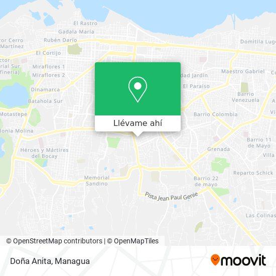 Mapa de Doña Anita