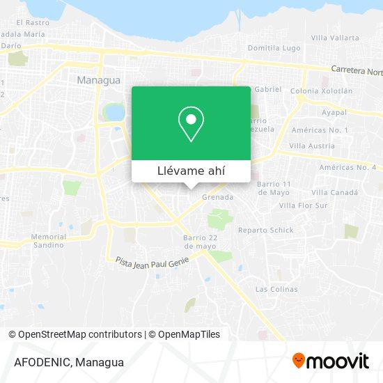 Mapa de AFODENIC