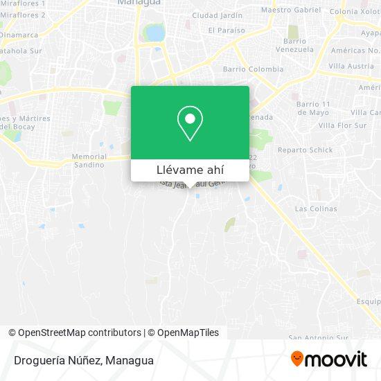 Mapa de Droguería Núñez