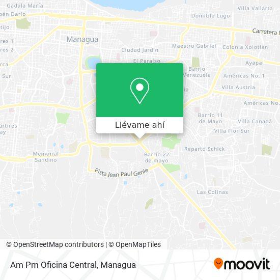 Mapa de Am Pm Oficina Central