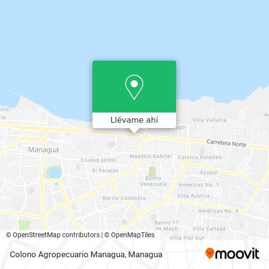 Mapa de Colono Agropecuario Managua