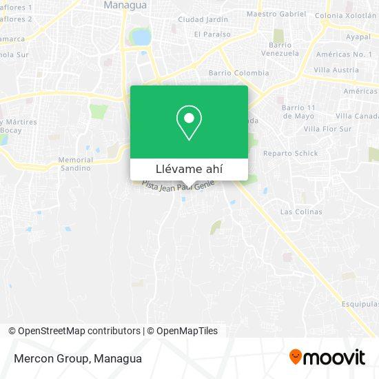 Mapa de Mercon Group