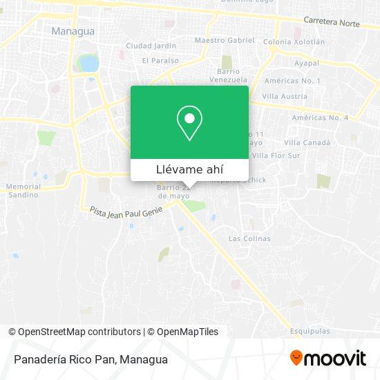 Mapa de Panadería Rico Pan
