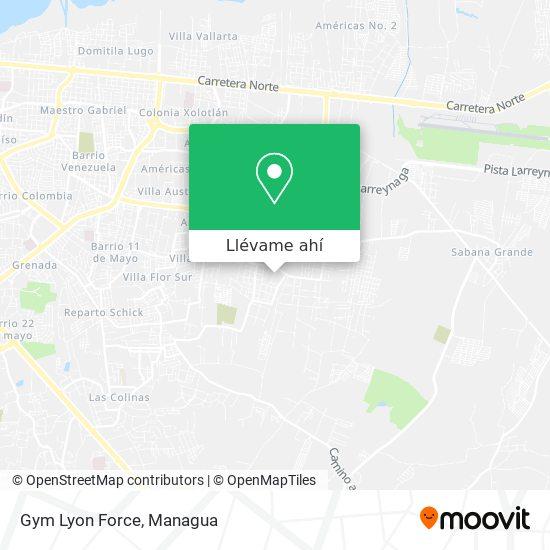 Mapa de Gym Lyon Force