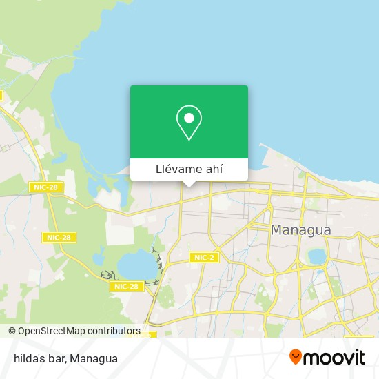 Mapa de hilda's bar