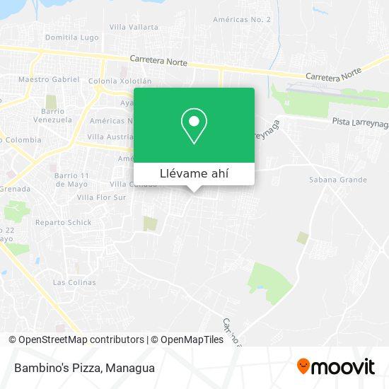 Mapa de Bambino's Pizza