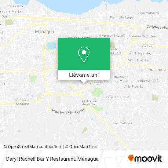Mapa de Daryl Rachell Bar Y Restaurant