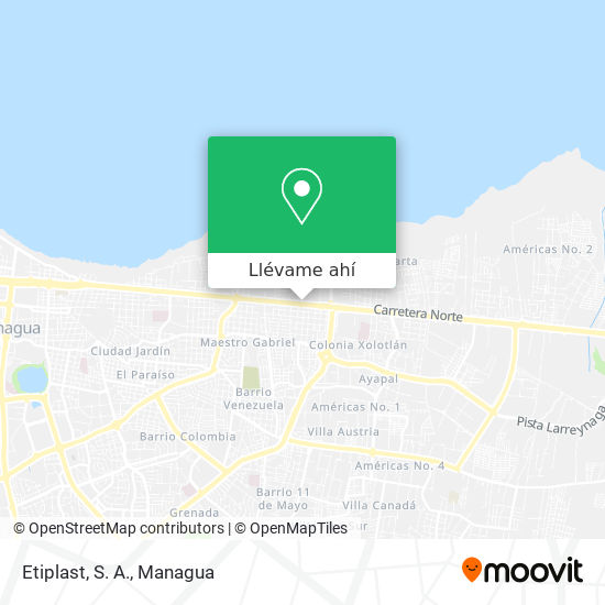 Mapa de Etiplast, S. A.