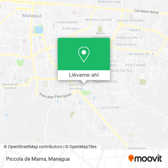 Mapa de Piccola de Mama