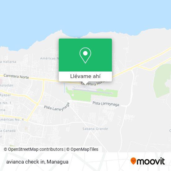 Mapa de avianca check in