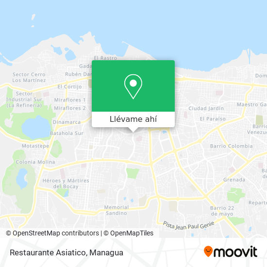 Mapa de Restaurante Asiatico