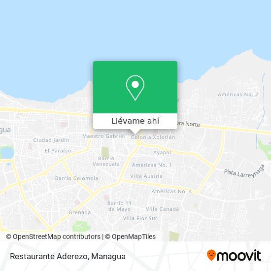 Mapa de Restaurante Aderezo