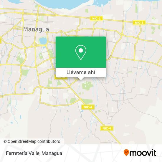 Mapa de Ferretería Valle