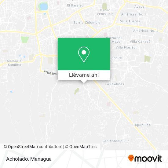 Mapa de Acholado